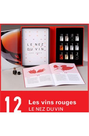 12 arômes Les vins rouges