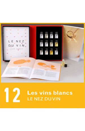 12 arômes Les vins blancs et champagnes