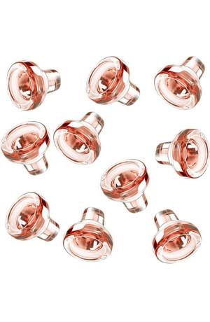 Lot de 10 bouchons verre Vino-Lok Rose