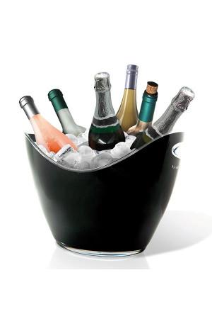 Vasque noir Luxe 6 bouteilles