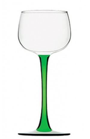 Lot de 6 verres Alsace 15,5 cl vin du Rhin à pied vert
