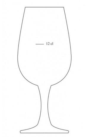 Lot de 6 verres INAO 22 cl jaugé à 12 cl