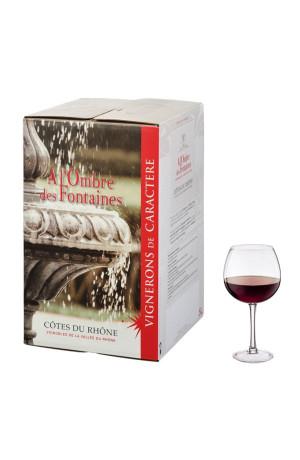 Bib 5L Côtes du Rhône rouge à l'ombre des fontaines