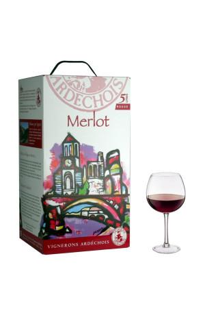 Merlot I.G.P Bib 5L Vignerons Ardéchois