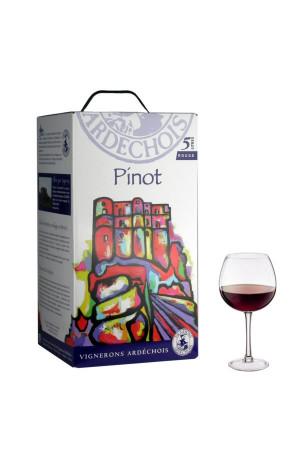 Pinot noir I.G.P Bib 5L Vignerons Ardéchois