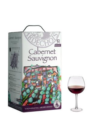 Cabernet-Sauvignon I.G.P Bib 5L Vignerons Ardéchois