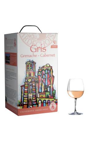 Gris de Grenache-Cabernet I.G.P Bib 5L Vignerons Ardéchois