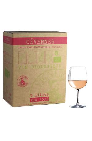 Bib 3L vin Bio IGP Cevennes Rosé