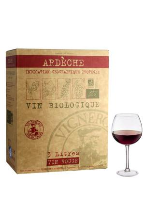 Bib 3L vin Bio IGP Cevennes Rouge