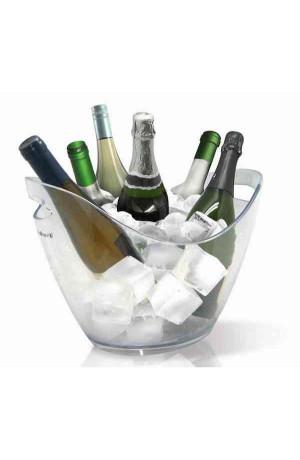 Vasque transparente luxe 6 bouteilles