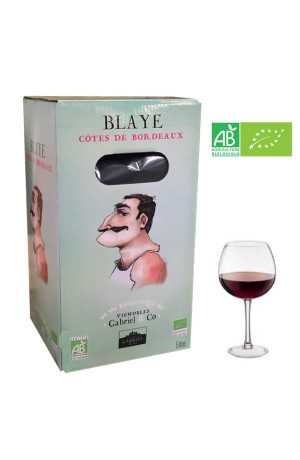 Bib 5L Blaye Côtes de Bordeaux Bio Vignobles Gabriel & Co